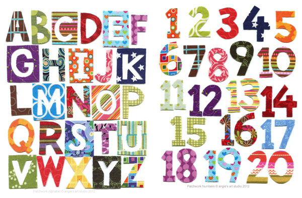 Patchwork Alphabet and Numbers — Angie's Art Studio