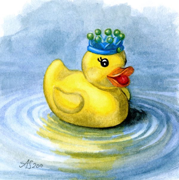 Rubber Ducky King Of The Bathtub Angie S Art Studio