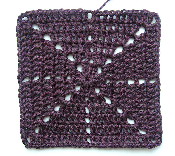 Free Crochet Easy Granny Square Patterns : A Crochet Project in Progress: Starburst Granny Square ...