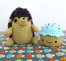 Hedgehog and Cupcake Amigurumi Crochet