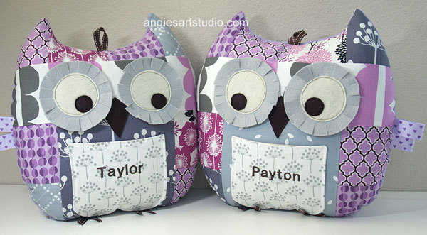 Patchwork owls for twins