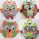 My Growing Family of Patchwork Owls