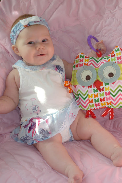 Penelope the patchwork owl baby crinkle toy