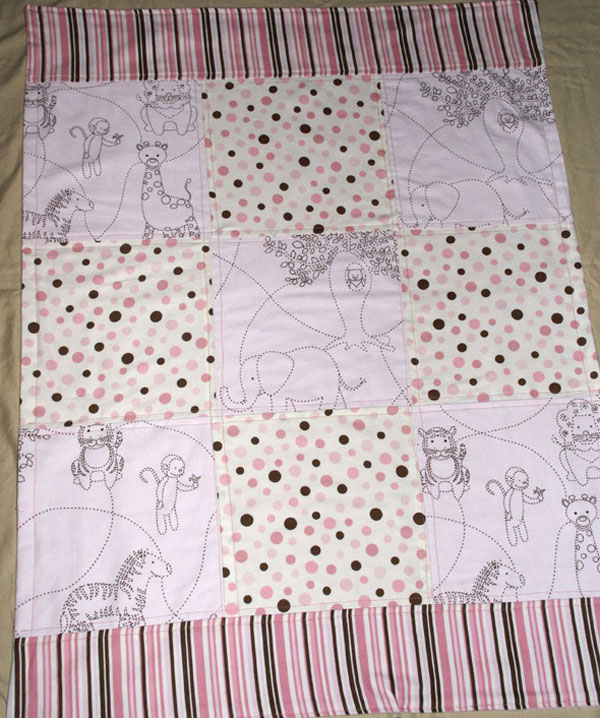 baobab flannel baby quilt