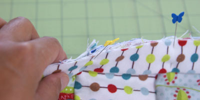 how to make a baby rag blanket
