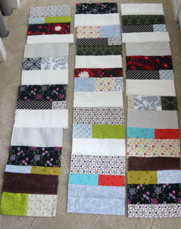 scrappy patchwork rug
