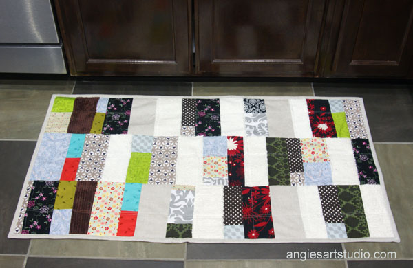 Patchwork rug for the kitchen