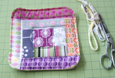 log cabin potholder tutorial