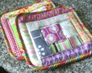Sewing Tutorial: Log Cabin Potholders Made From Fabric Scraps