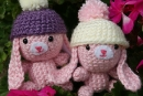 Snow Bunnies, amigurumi crochet