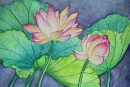 Lotus Flowers #2, watercolor