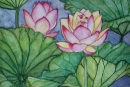 Lotus Flowers #4, watercolor