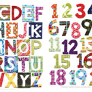 Patchwork Alphabet and Numbers