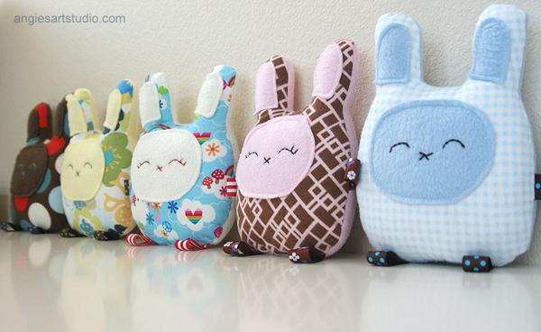 Baby Bunny Pillows Angies Art Studio