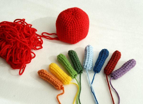How To Crochet Amigurumi For Beginners : Rainbow Octopus Crochet Angies Art Studio