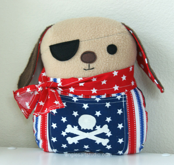 pirate dog plushie
