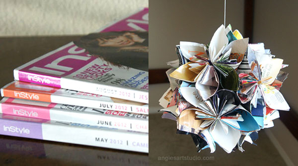 Recycle A Magazine Into A Flower Globe Angie S Art Studio