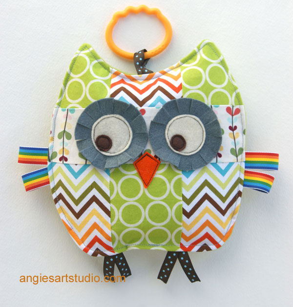 rupert the patchwork owl baby crinkle toy