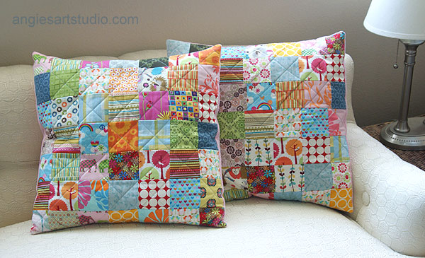 patchwork cushion covers