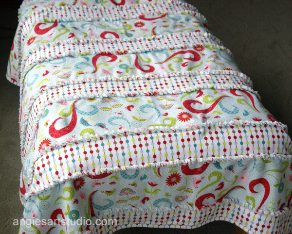 An Easy And Simple Way To Make A Baby Rag Blanket Angies Art Studio