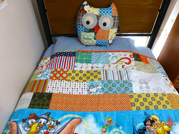 Patchwork twin bedspread