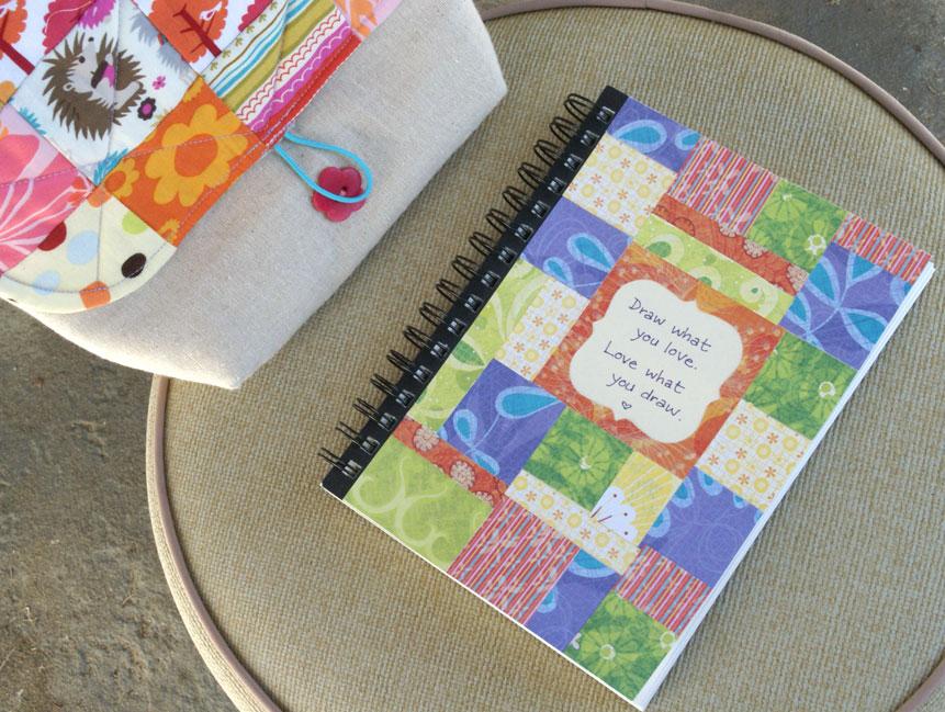 patchwork sketchbook