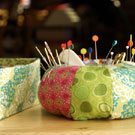 "Pin Cushion and Fabric Boxes from the book ""Seams to Me"""