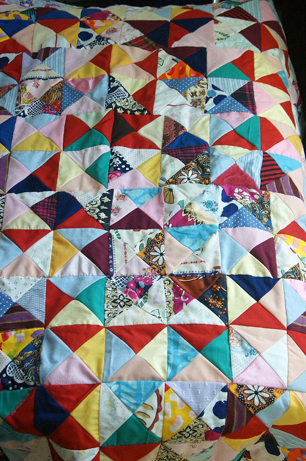 triangle square patchwork blanket